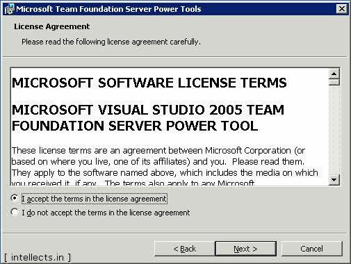 tfspowertoolsinstallation 01 0001 thumb TFS 2005 Customize Work Item Template and Process Template   Part I