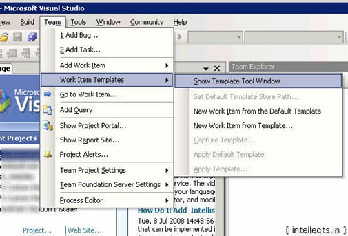 tfspowertoolsusing 02 thumb TFS 2005 Customize Work Item Template and Process Template   Part I
