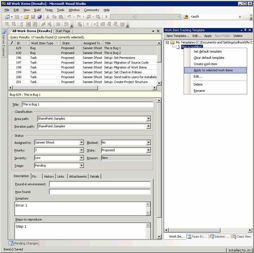 tfspowertoolsusing 09 thumb TFS 2005 Customize Work Item Template and Process Template   Part I