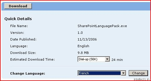 Installing a language pack for SharePoint (MOSS SP1 and WSS